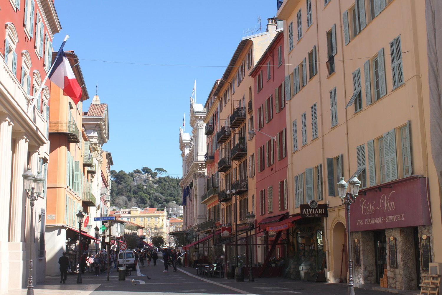 The streets of Nice