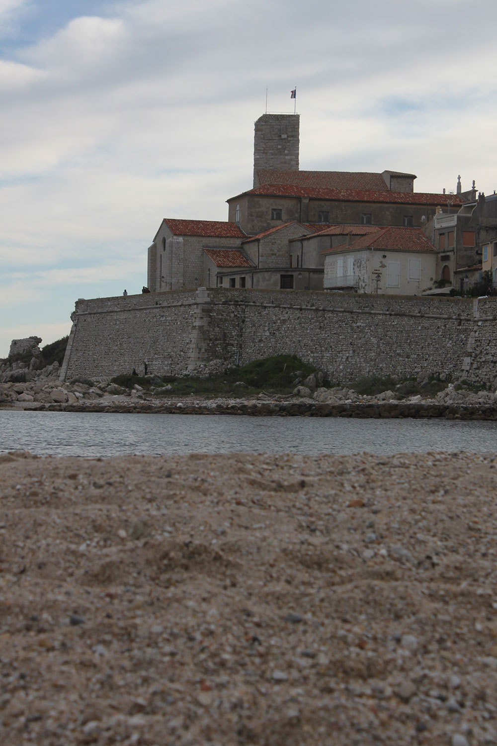 Antibes from the beach