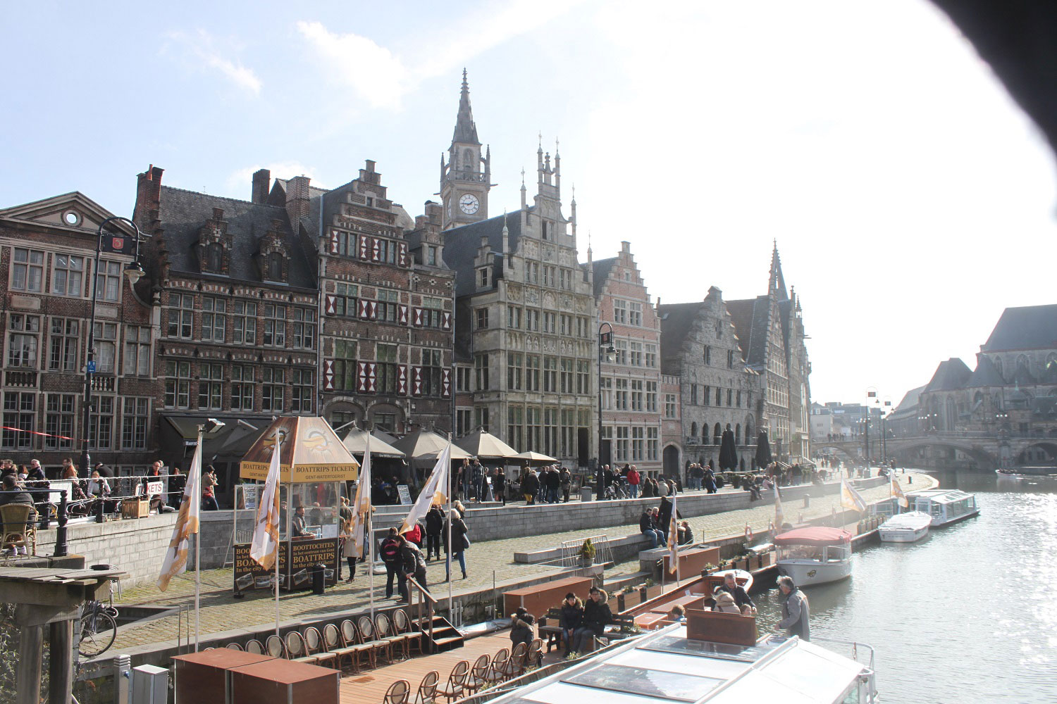 The main canal in Ghent