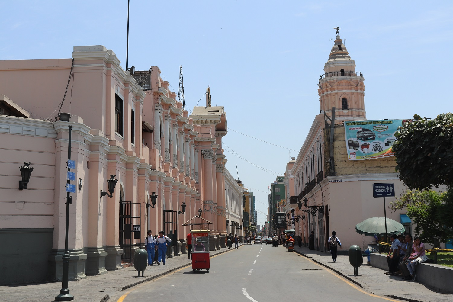 The streets of Lima