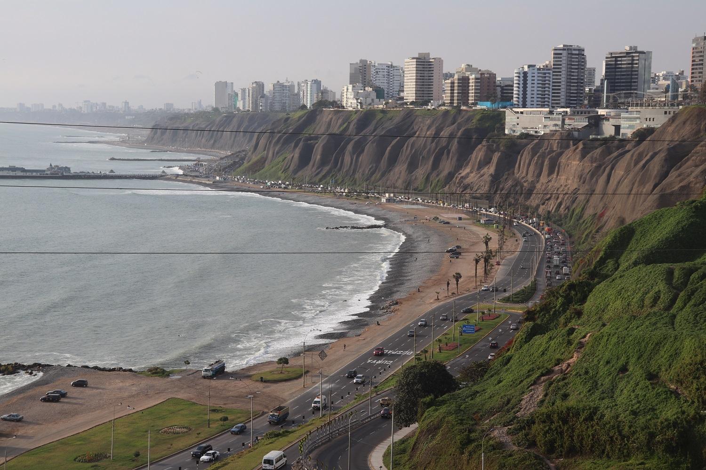 The coast of Lima, Peru