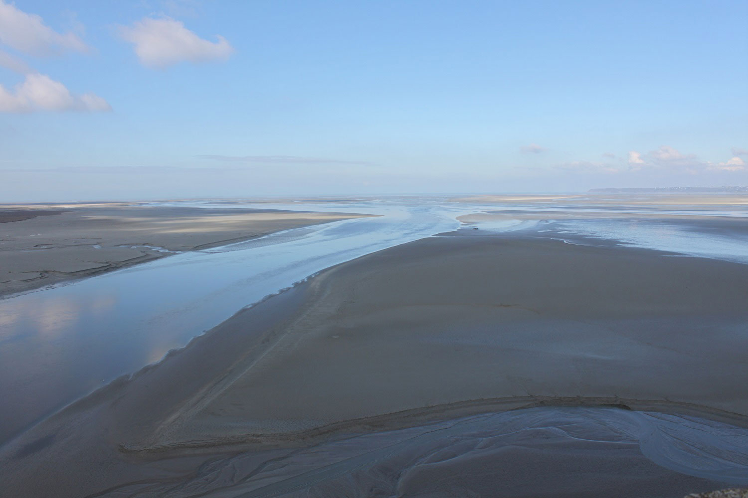 The beaches at Mont St-Michel