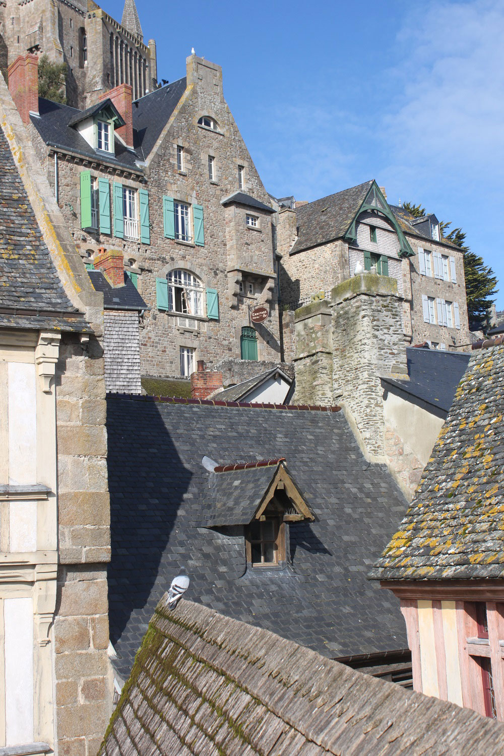 The medieval buildings of Mont St-Michel