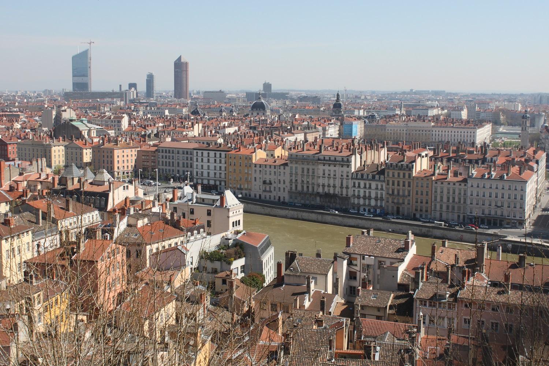 City view of Lyon, France
