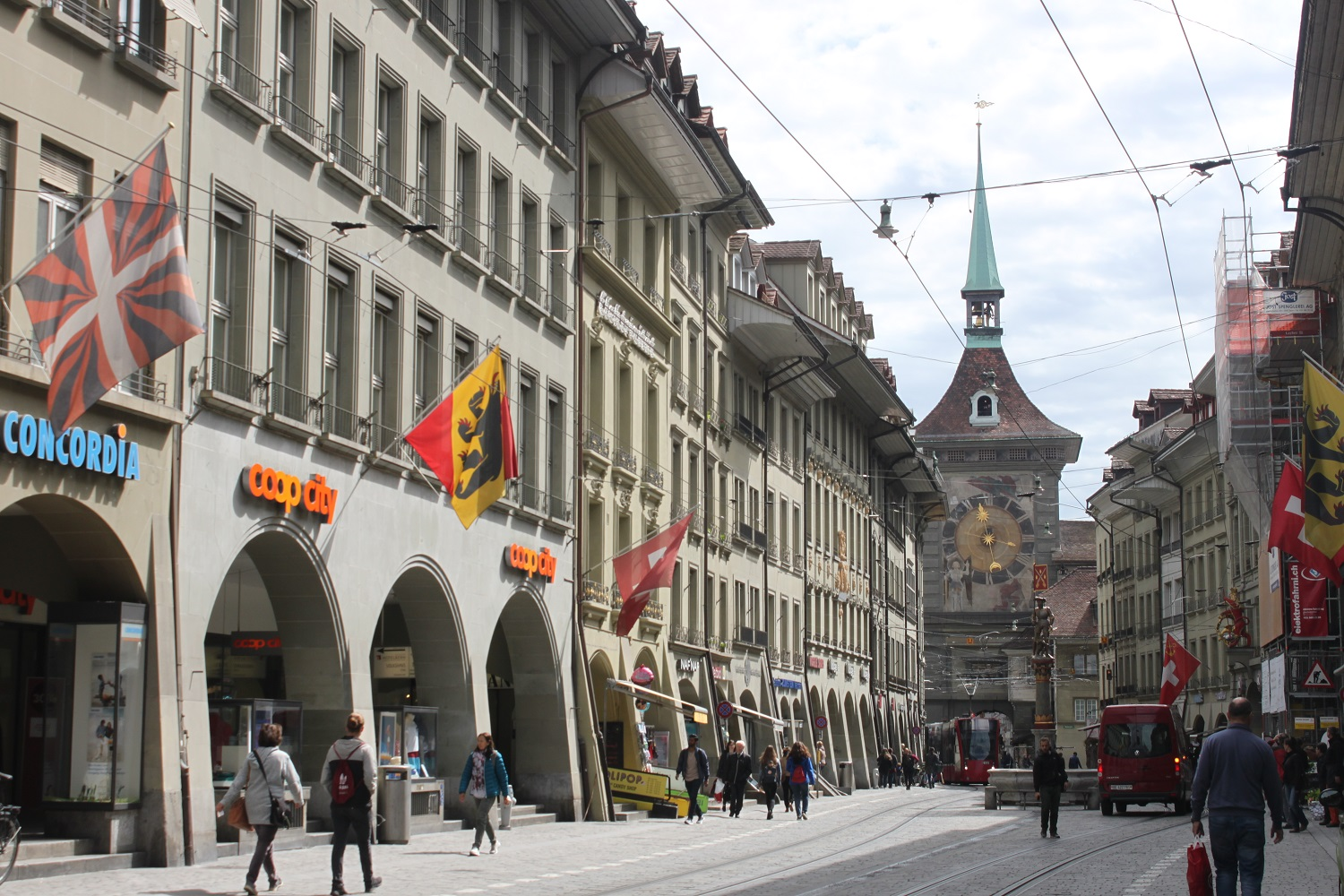 The streets of Bern