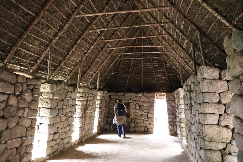 Inside a building at Machu Picchu