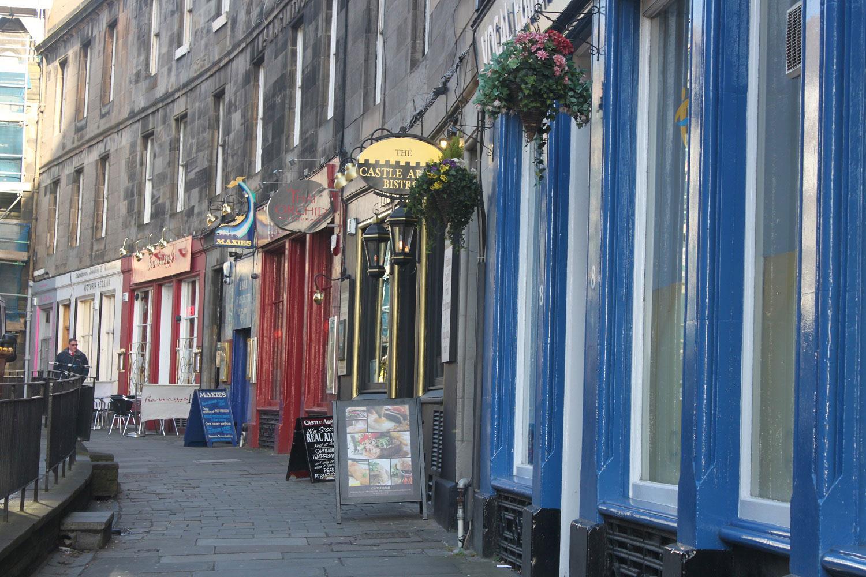 Colourful Shoppes in Edinburgh