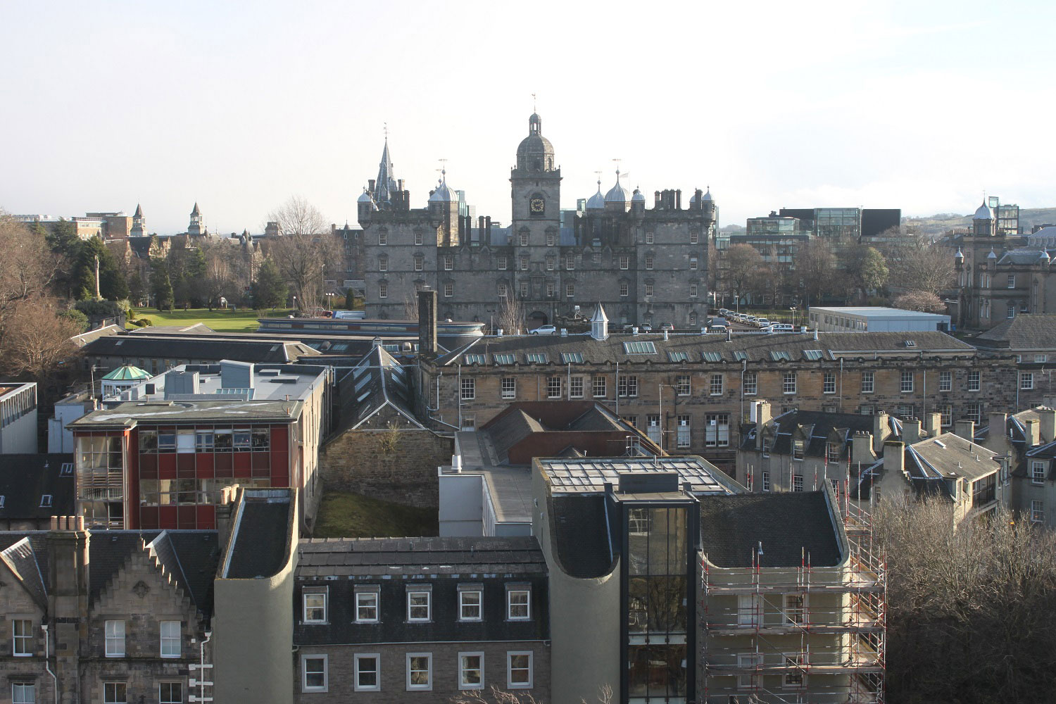 View of George Heriot's School from Castle Rock Hostel