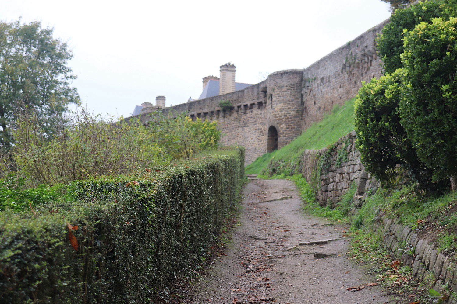 The medieval walls of Dinan