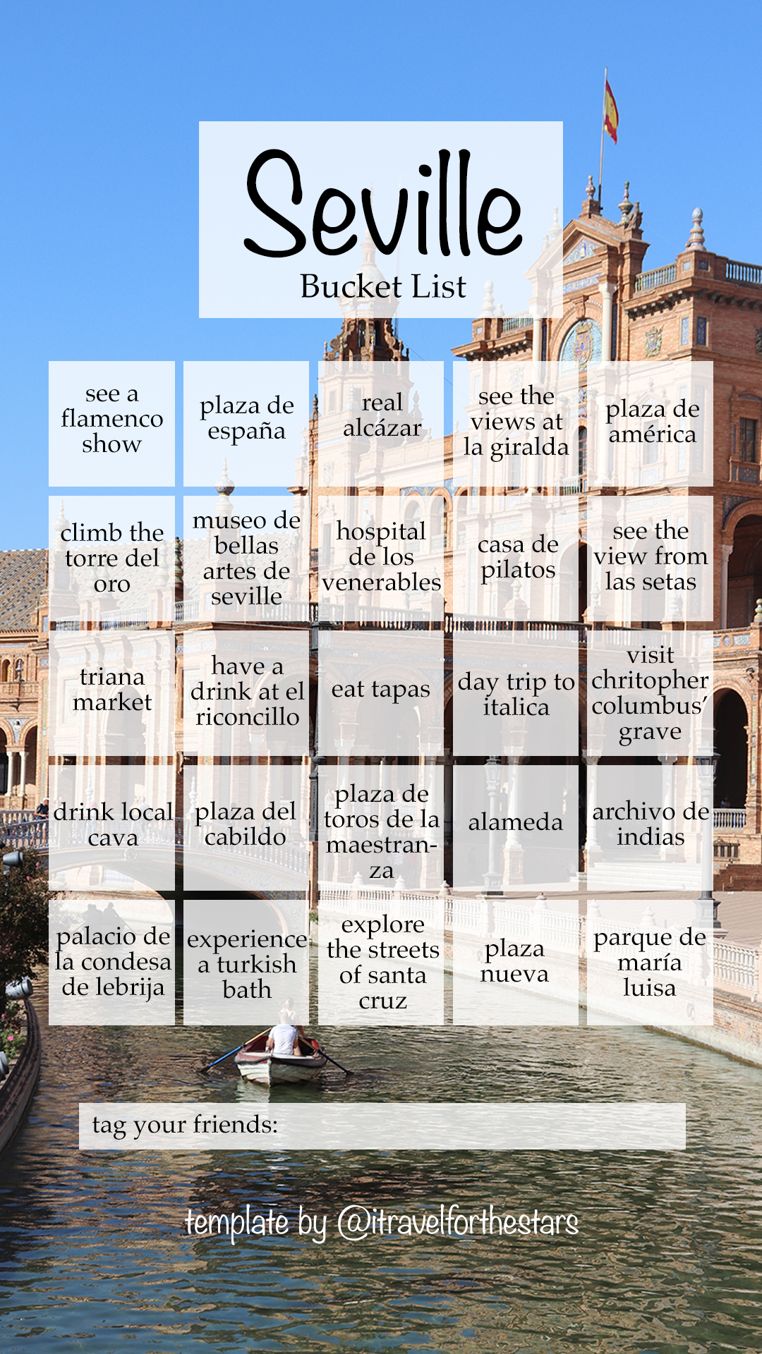 Seville Bucket List for Instagram