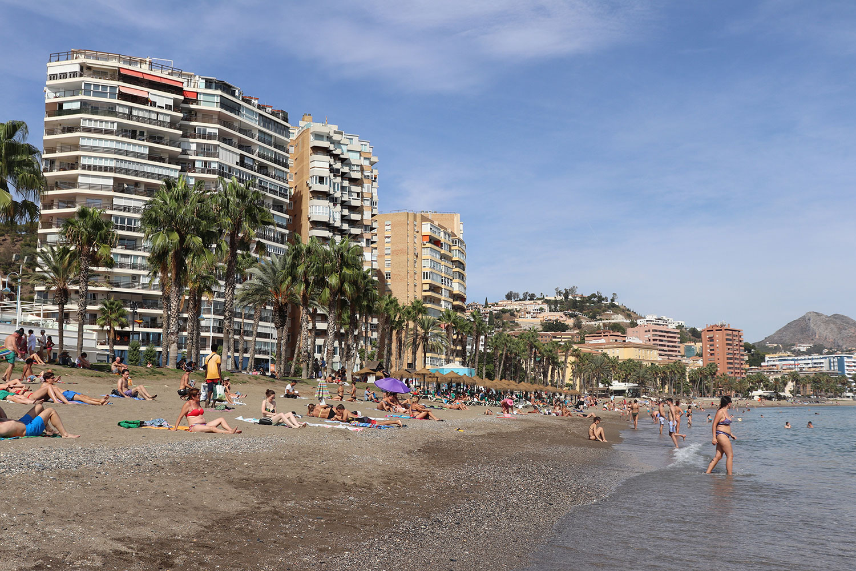 Playa de Malagueta in Malaga