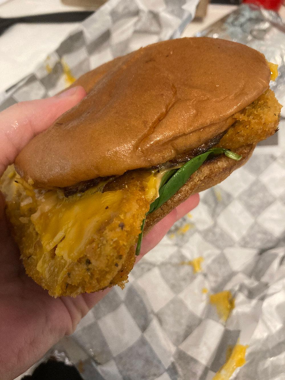 Fish sandwich from My Mama's Vegan